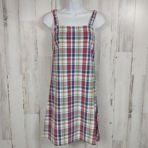 🌿  Abercrombie Plaid Sleeveless Casual Dress XS